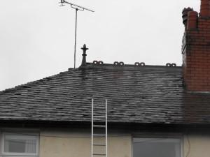 Rosemary tile roof to repair