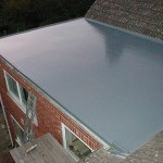 Rubber roof covering on flat roof