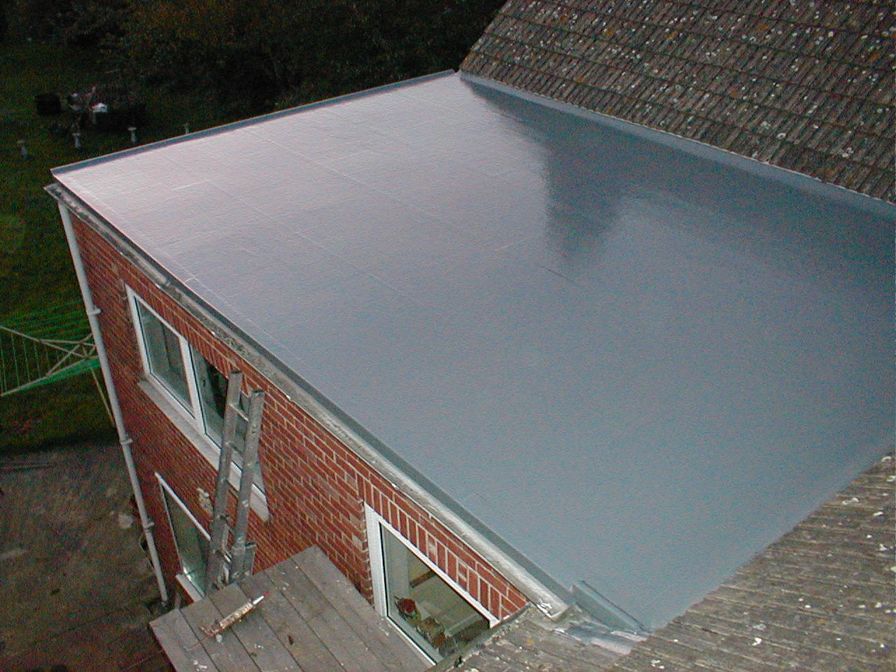 Rubber Roof Covering On Flat Roof .