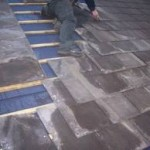 Laying a new slate roof